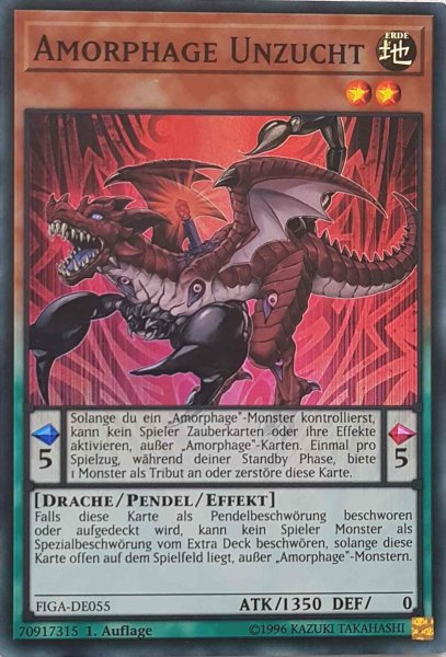 Amorphage Unzucht FIGA-DE055 ist in Super Rare Yu-Gi-Oh Karte aus Fists of the Gadgets 1.Auflage