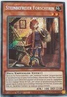 Steinbefreier Forscherin SESL-DE002 ist in Secret Rare Yu-Gi-Oh Karte aus Secret Slayers 1.Auflage