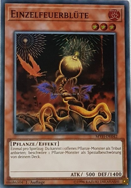 Einzelfeuerblüte MYFI-DE042 ist in Super Rare aus Mystic Fighters 1.Auflage